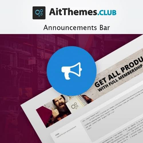 AIT Announcements Bar