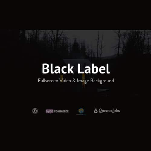 Black Label Fullscreen Video Image Background