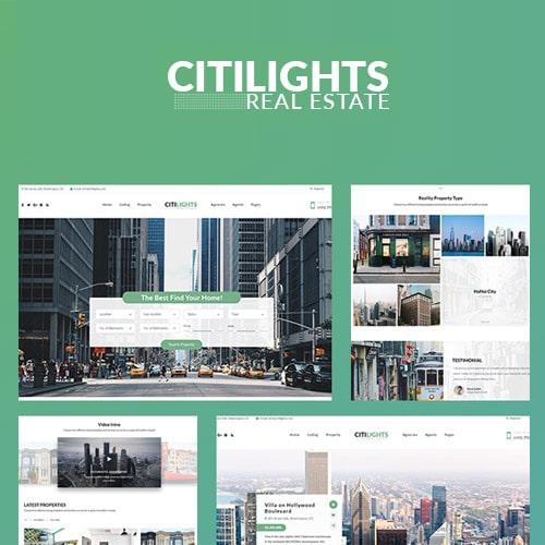 CitiLights Real Estate WordPress Theme