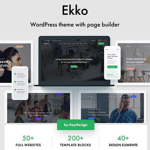 Ekko – Multi-Purpose WordPress Theme with Page Builder