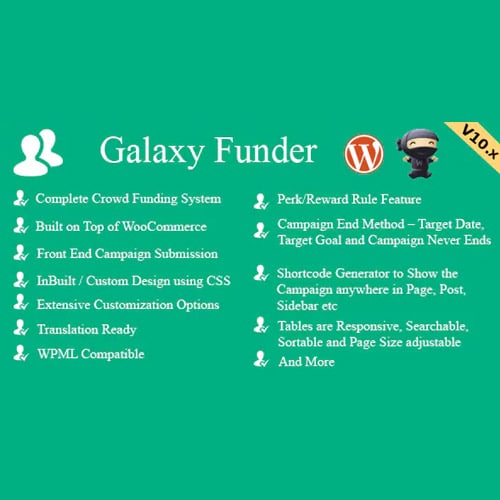 Galaxy Funder – WooCommerce Crowdfunding System