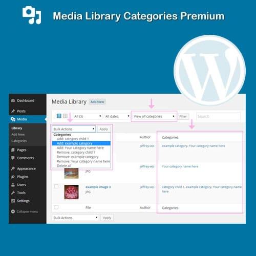 Media Library Categories Premium