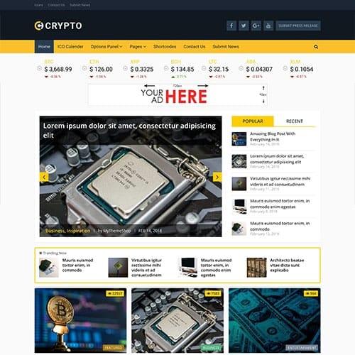 MyThemeShop Crypto Bitcoin & Cryptocurrency WordPress Theme