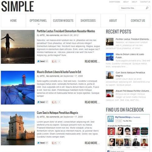 MyThemeShop Simple WordPress Theme