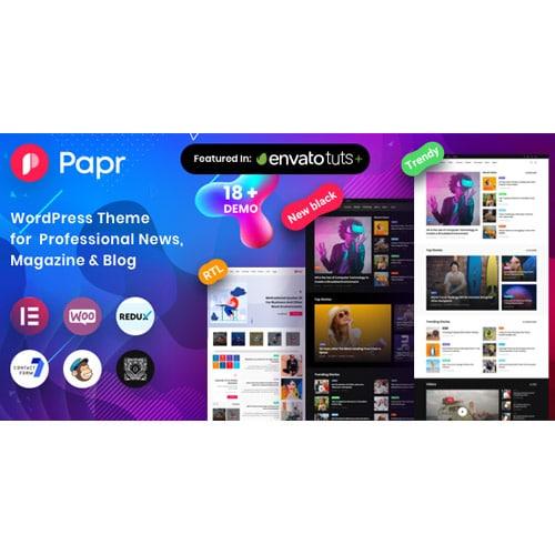 News Magazine Papr – News Magazine WordPress Theme