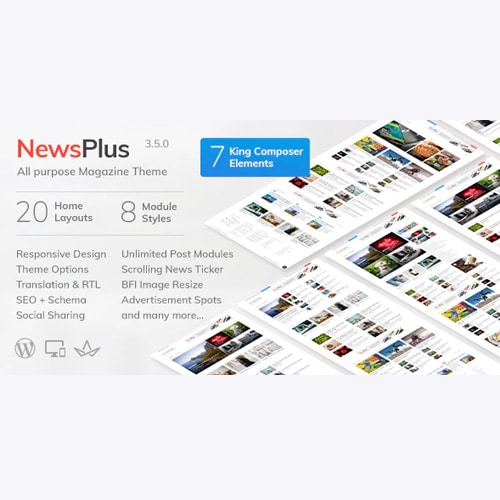 NewsPlus News and Magazine WordPress theme