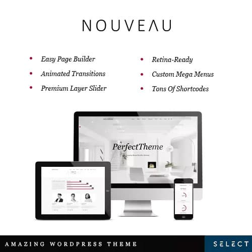 Nouveau – Multi-Purpose Retina WordPress Theme