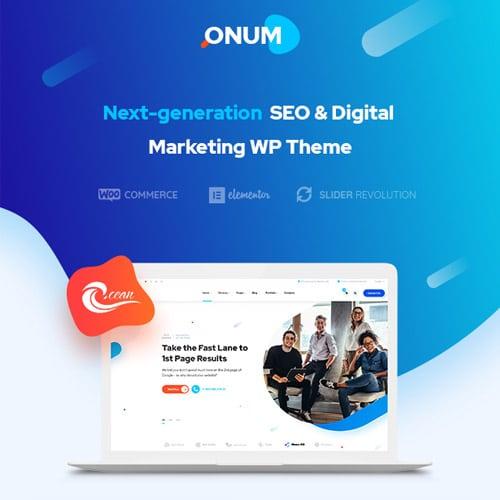 Onum – SEO & Marketing Elementor WordPress Theme