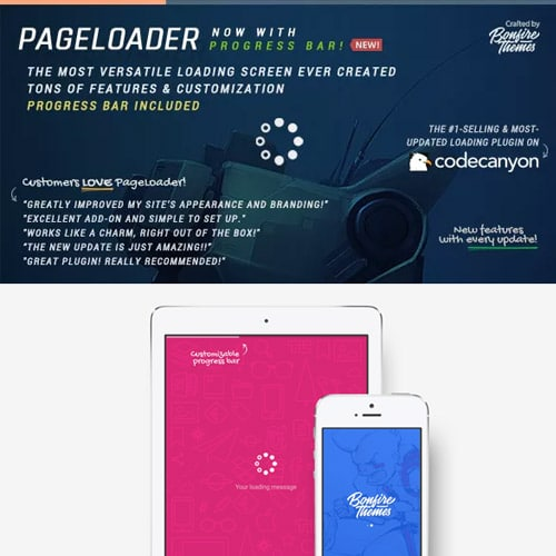 PageLoader: Loading Screen and Progress Bar for WordPress