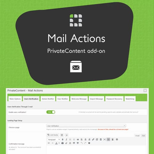 PrivateContent – Mail Actions Add-on