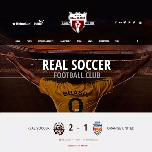 Real Soccer – Sport Clubs Responsive WP Theme