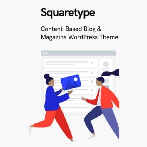Squaretype – Modern Blog WordPress Theme