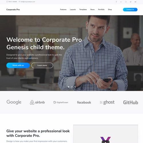StudioPress Corporate Pro Genesis WordPress Theme