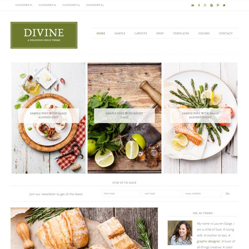 StudioPress Divine Pro Genesis WordPress Theme