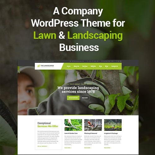 The Landscaper – Lawn & Landscaping WP Theme
