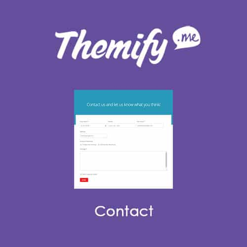 Themify Builder Contact