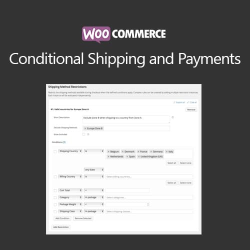 WooCommerce Conditional Shipping and Payments