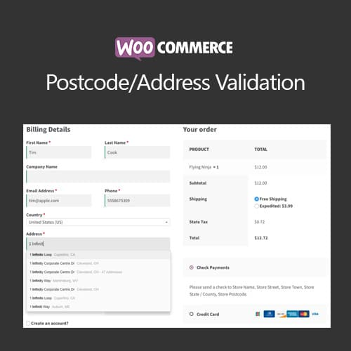 WooCommerce Postcode/Address Validation