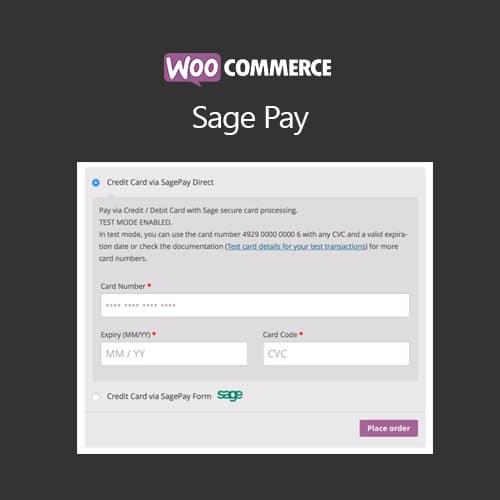 WooCommerce SagePay Form SagePay Direct
