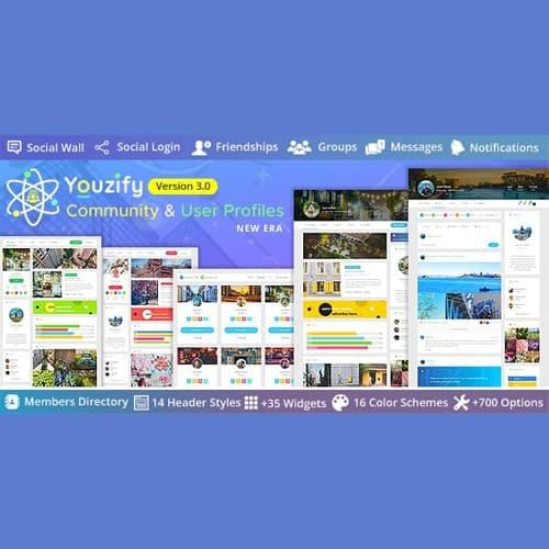 Youzify (formerly Youzer) - BuddyPress Community & WordPress User Profile Plugin With Addons