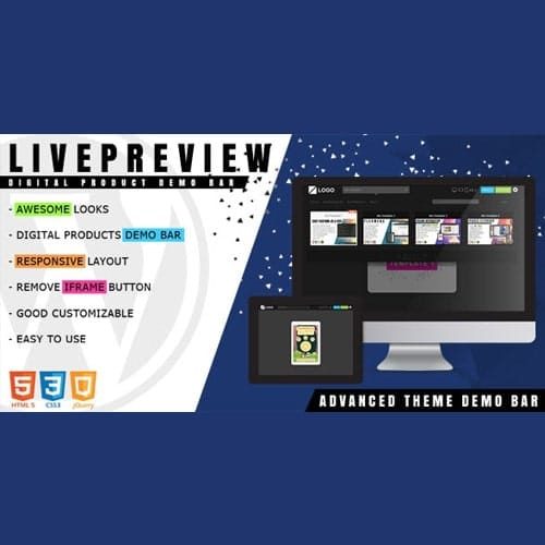 LivePreview Theme Demo Bar for WordPress