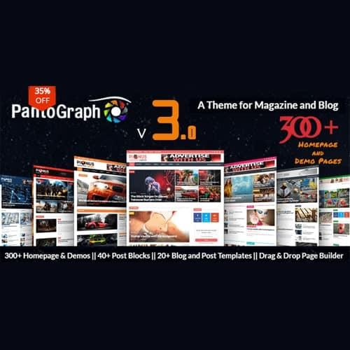PantoGraph - Newspaper Magazine Theme