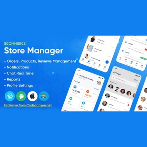 Store Manager React Native Application for Wordpress Woocomerce.