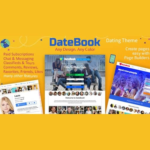 DateBook Dating WordPress Theme