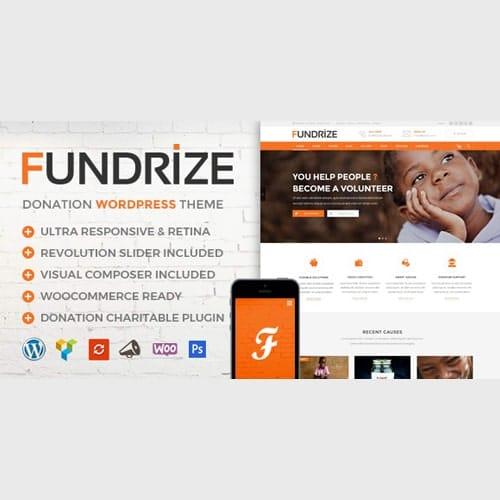 Fundrize Responsive Donation Charity WordPress Theme