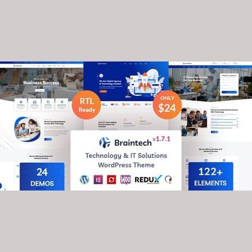 Braintech Technology IT Solutions WordPress Theme
