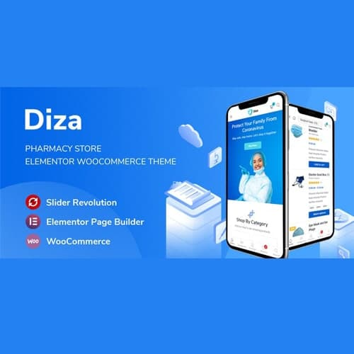 Diza Pharmacy Store Elementor WooCommerce Theme