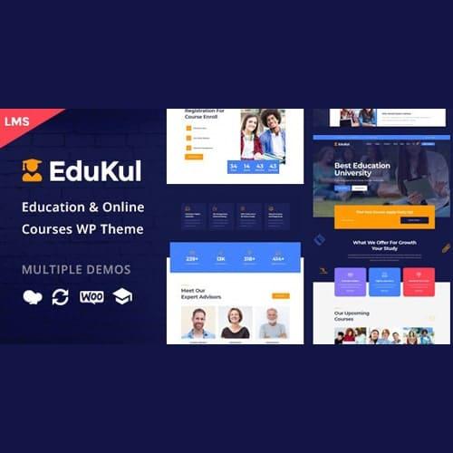 Edukul Online Courses WordPress Theme