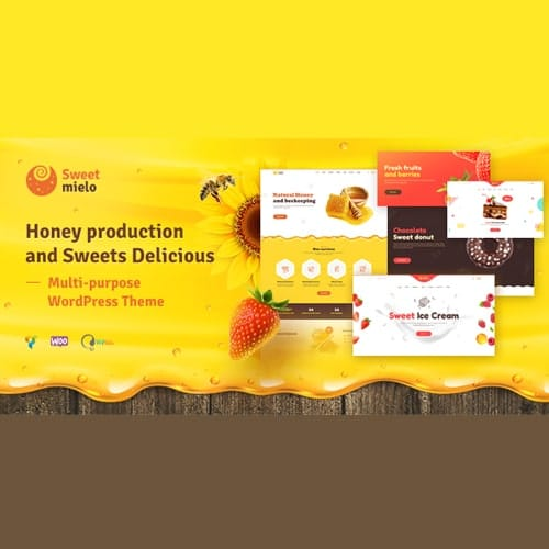 SweetMielo Honey Production and Sweets Delicious WordPress Theme