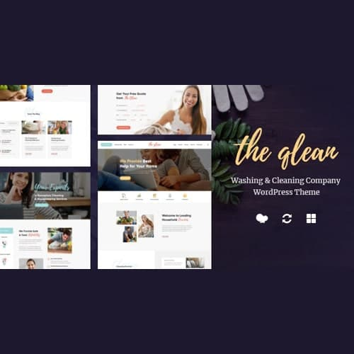 The Qlean | Housekeeping: Washing & Cleaning Company WordPress Theme