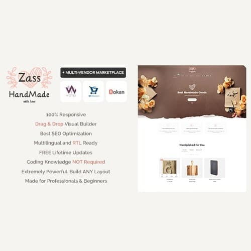 Zass WooCommerce Theme for Handmade Artists and Artisans