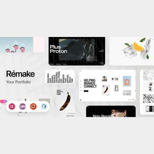 Remake - Minimalist Portfolio Theme